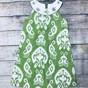 Gymboree size 8 green tank dress